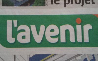 Journal L'Avenir: Stéphane Hazée interroge le Ministre sur l'évolution du dossier et demande une action concrète