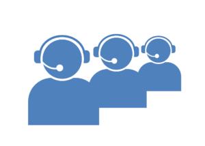 Icône de call center pour illustrer une centrale de mobilité.
