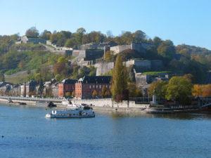 Photo de Namur avec le confluent, le Parlement pour symboliser la Wallonie.