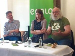 Photo du panel du débat Gouvernance à Thuin avec Stéphane Hazée