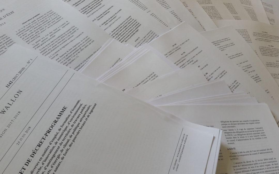 Décret-programme : le Gouvernement wallon saborde le travail du Parlement et veut faire passer en force une série de changements
