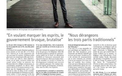 Stéphane Hazée revient sur l'actualité dans la Libre. Le point sur Publifin, la réforme APE, l'action du Gouvernement…