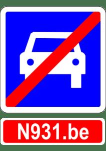 Image du sigle N931 barré.