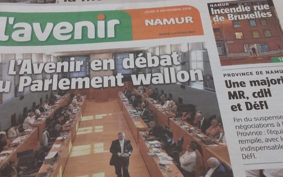 Editions de L'Avenir: pour Stéphane Hazée, le Gouvernement doit agir pour ouvrir une alternative !