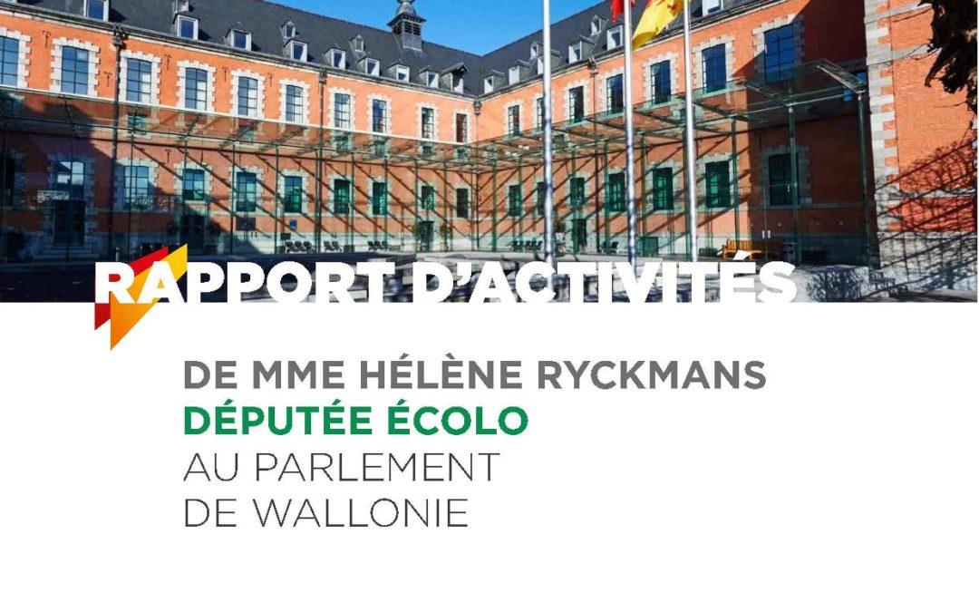 Rapport d'activités d'Hélène Ryckmans