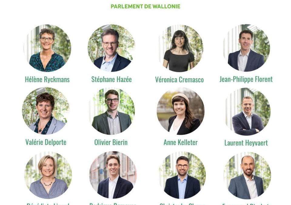 """Nouveau Groupe Ecolo au Parlement de Wallonie: """"nous étions 4 depuis 5 ans. Les électeurs nous ont portés à 12 !"""""""